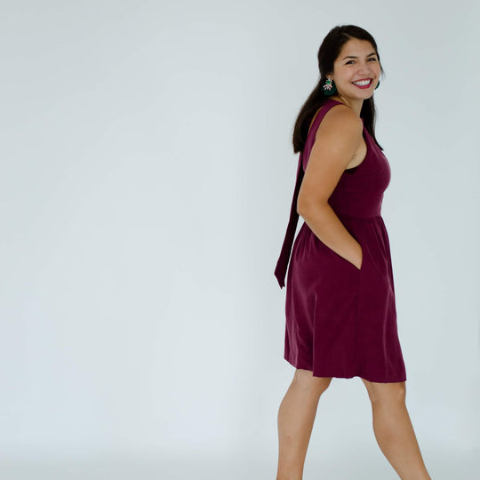Emily Dress in Ruby