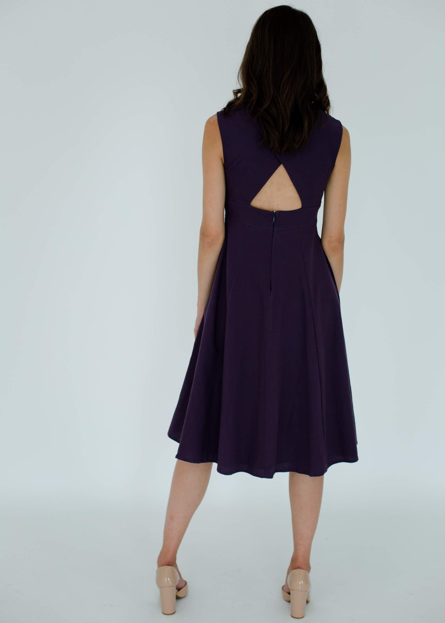 Kelly Dress in Dark Violet