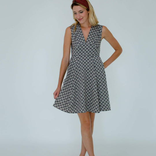 Kelly Dress in Murcia Tile