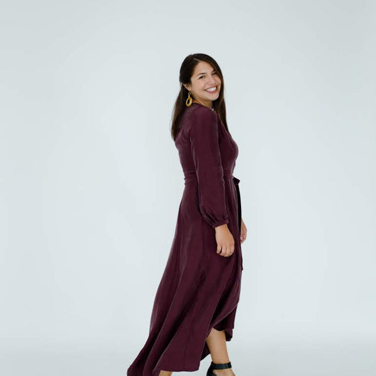 Jessalyn Dress in Plum- Backorder