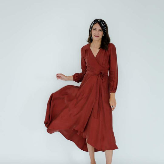 Jessalyn Dress in Rust