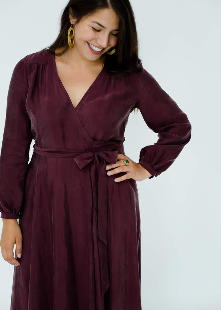 Jessalyn Dress in Plum