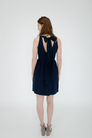 Emily Dress in Navy Back
