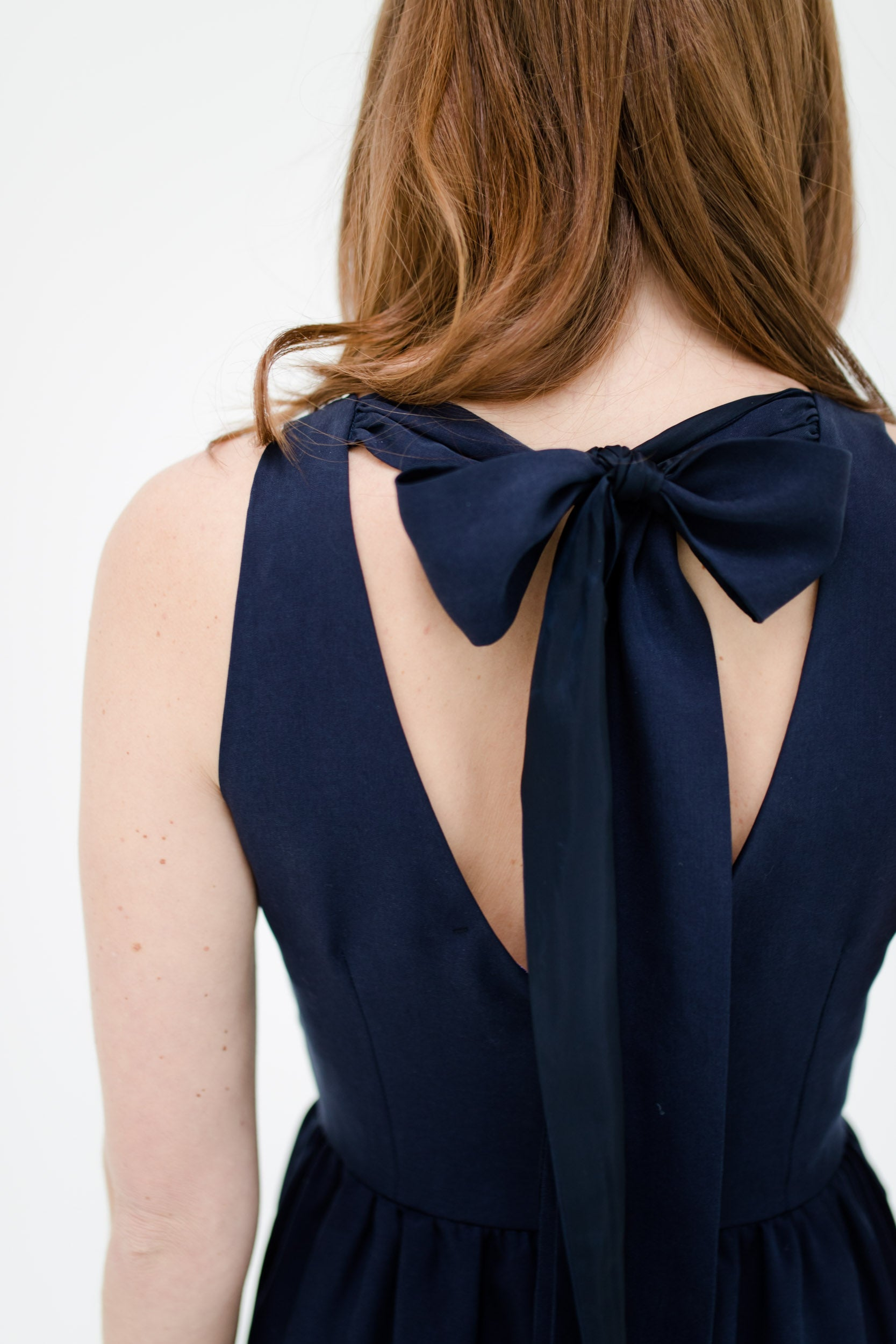 Emily Dress in Navy Detail