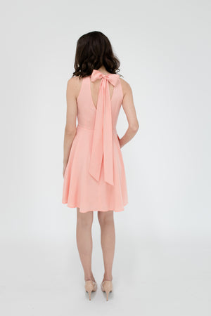 Emily Dress in Peach Peony Back