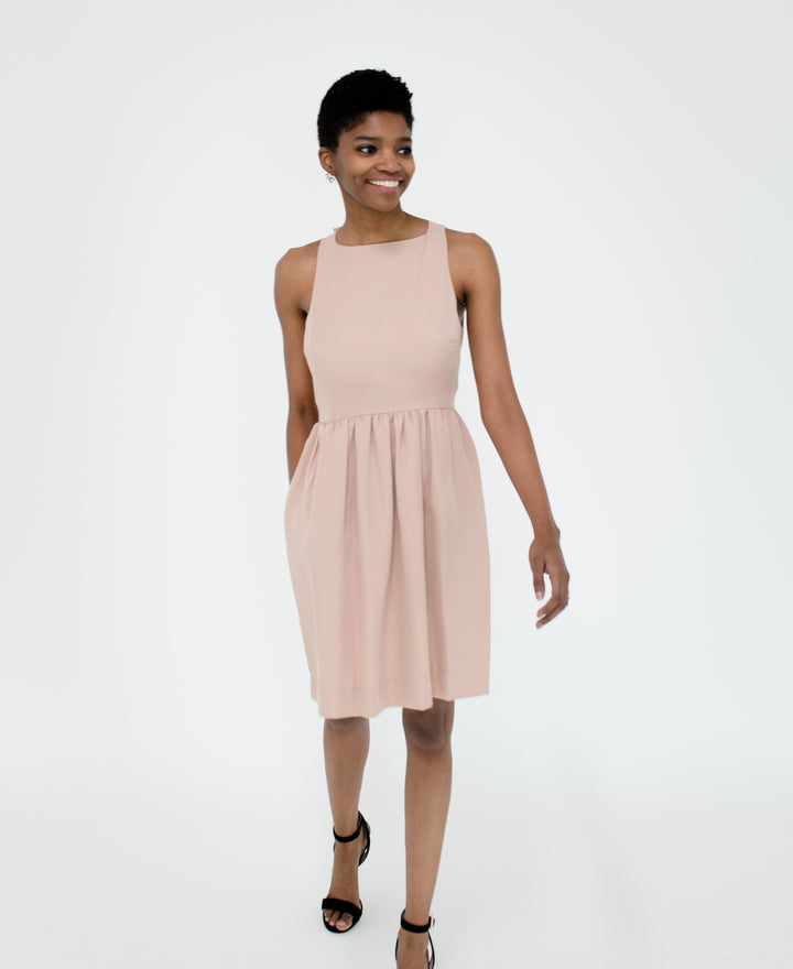Emily Dress in Fawn Front