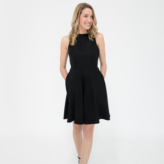 Emily Dress in Black Front