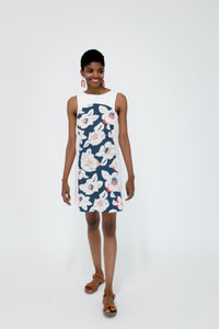 Marisa Dress in Floral/White Front