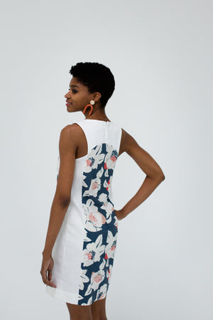 Marisa Dress in Floral/White Back