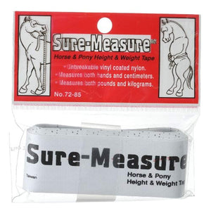 Horse & Pony Height AND Weight Tape - By Tough 1 Sure Measure