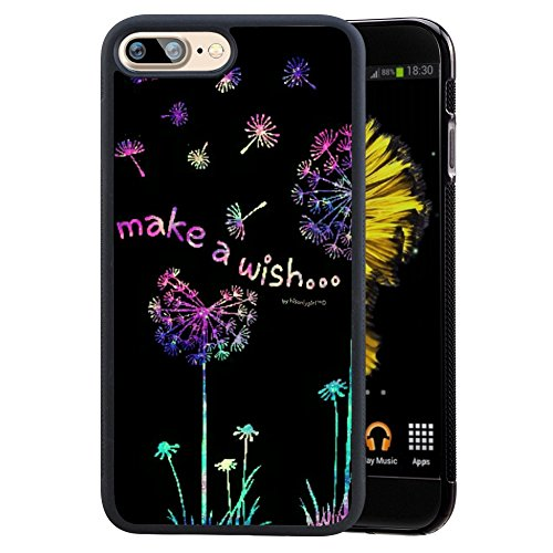 Watercolor Horse Case for iPhone 8 & 7 Plus - Custom Design - Black - Shock-Proof [Anti-Slippery]