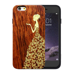 Horse Vintage Wood iPhone Case - Back Cover for iPhone 6/6s ONLY