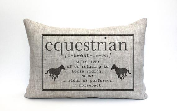 "Equestrian Pillow - Horse Lovers Pillow ""The Equestrian"""