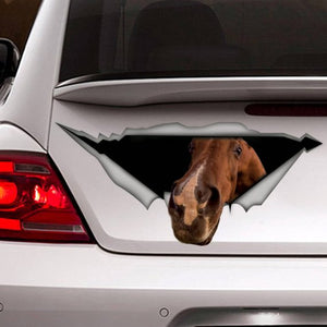 BEST SELLING - Horse car decal! For when your best friend should be with you... but they aren't.