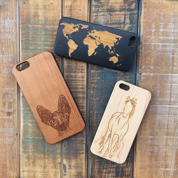 Wooden, Horse Phone Case - Works w/ iPhone X, 7, 6, SE, Galaxy S9, S8 Plus + MORE!