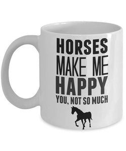 Horse Mug for Horse Lover Gifts for Women Horses Make Me Happy Horse Gifts for Men Horse Riding Coffee Mug for Horse Racing Animal Lovers
