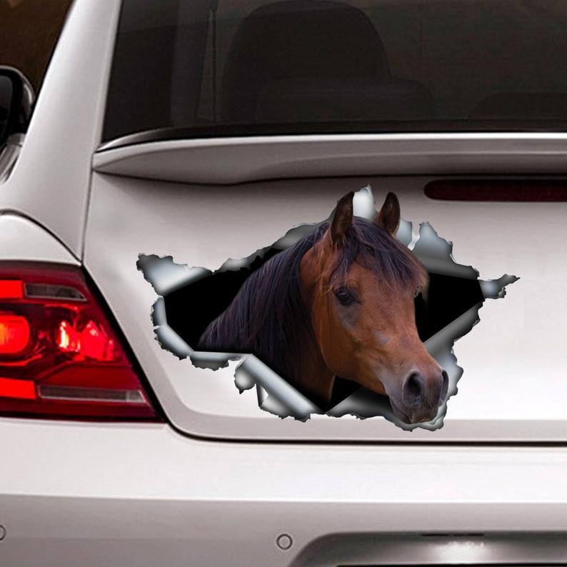 Chestnut Arabian horse sticker,  car sticker, horse decal, chestnut Arabian horse decal