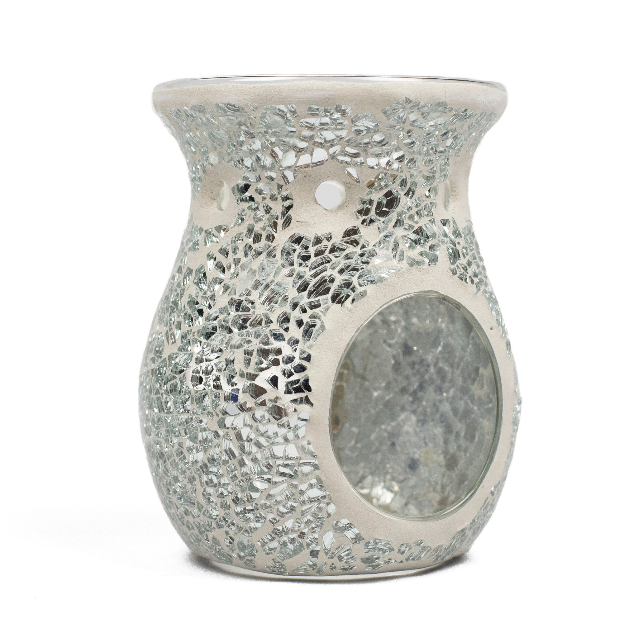 Silver Crackle Glass Burner