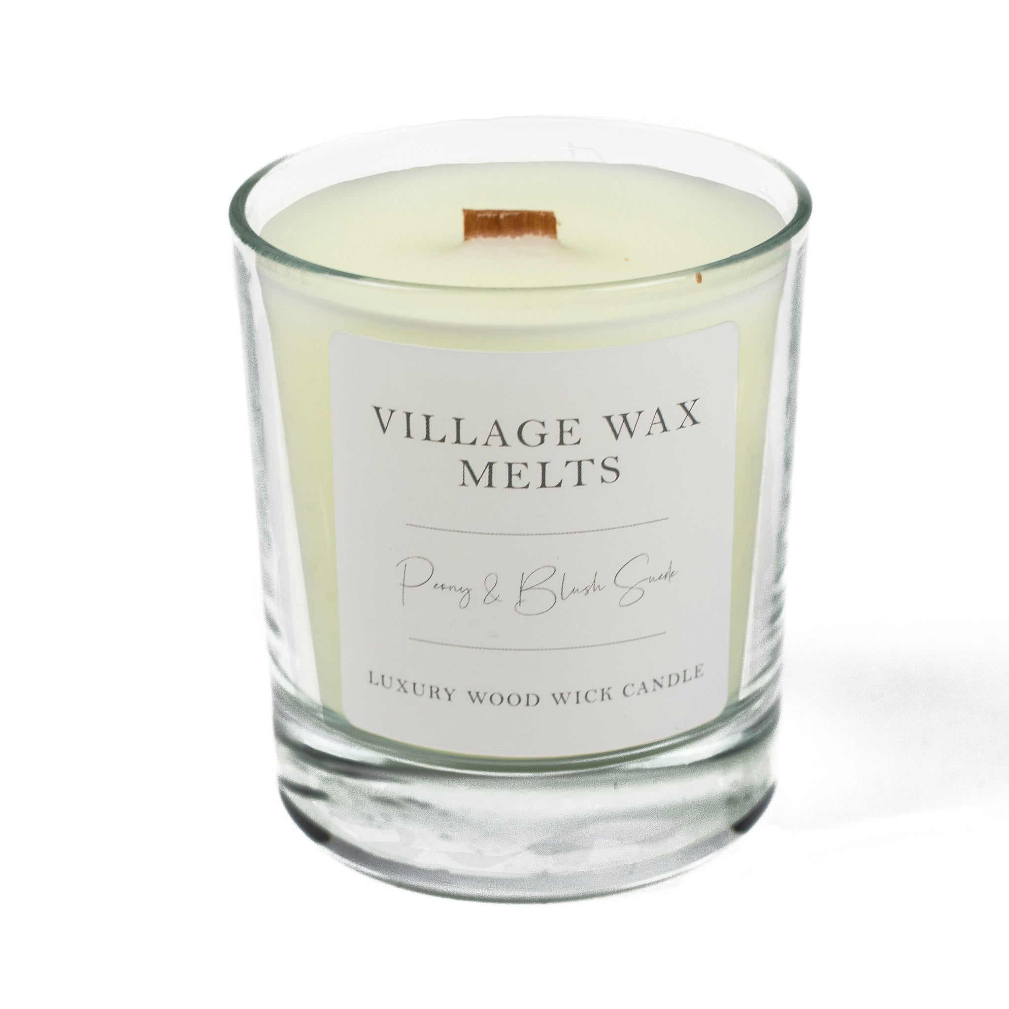 Peony & Blush Suede Wood Wick Candle 30cl