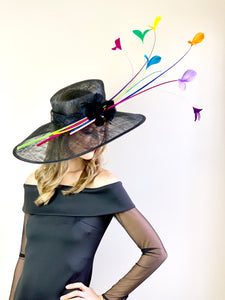 BLACK SUNBURST DERBY HAT
