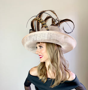 PHEASANT FEATHER CURL HAT