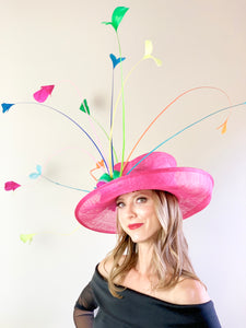 FUCHSIA RAINBOW HAT