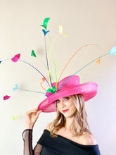 Load image into Gallery viewer, FUCHSIA RAINBOW HAT