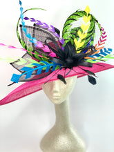 Load image into Gallery viewer, FUCHSIA PINK ELECTRIC DERBY HAT