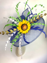 Load image into Gallery viewer, FADED DENIM BLUE & SUNFLOWER HAT