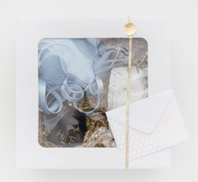 Load image into Gallery viewer, SOMETHING BLUE BRIDAL FASCINATOR GIFT BOX