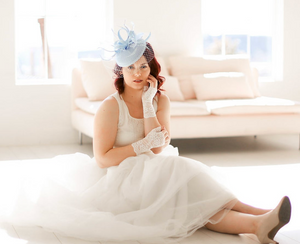 SOMETHING BLUE BRIDAL FASCINATOR GIFT BOX