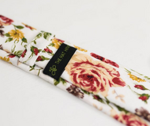 Load image into Gallery viewer, NEUTRAL BURGUNDY FLORAL NECK TIE