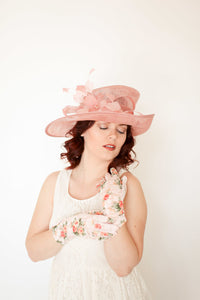 Pastel Pink Kentucky Derby Hat