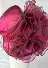 Load image into Gallery viewer, Wine maroon Kentucky Derby Hat