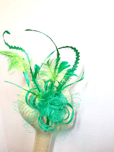St. Patricks Day Fascinator, Green Fascinator with lime green accent feathers  Tea Party Hat, St. Pattys Day, Derby Hat, Fancy Hat, Kelly Gr