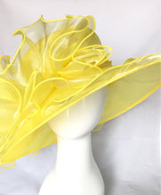 Load image into Gallery viewer, Yellow Kentucky Derby Hat
