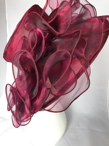 Wine maroon Kentucky Derby Hat