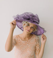 Load image into Gallery viewer, Purple Kentucky Derby Hat
