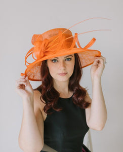 Orange Derby Hat