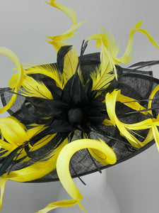 THH018 Black and Yellow Kentucky Derby Hat