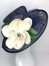 Load image into Gallery viewer, THH009 Navy Blue Magnolia Derby Hat