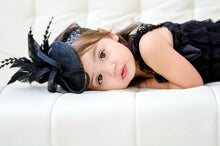 Load image into Gallery viewer, Black baby/toddler Fascinator