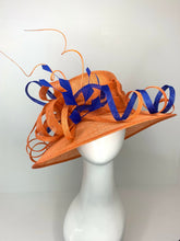 Load image into Gallery viewer, THH015 Orange and Royal Blue Derby Hat