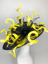 Load image into Gallery viewer, THH018 Black and Yellow Kentucky Derby Hat