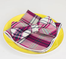 Load image into Gallery viewer, Multi Color Plaid Bow Tie