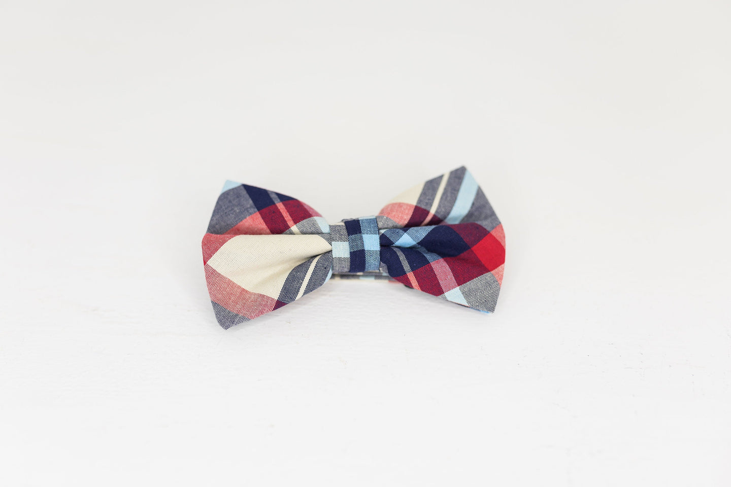 Multicolor Plaid Bow Tie