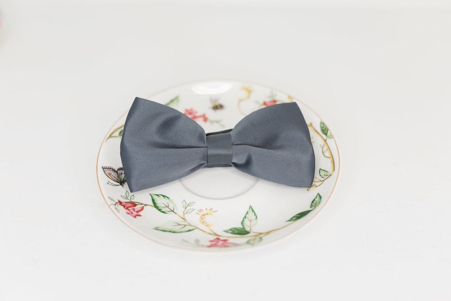 Charcoal Gray Bow Tie