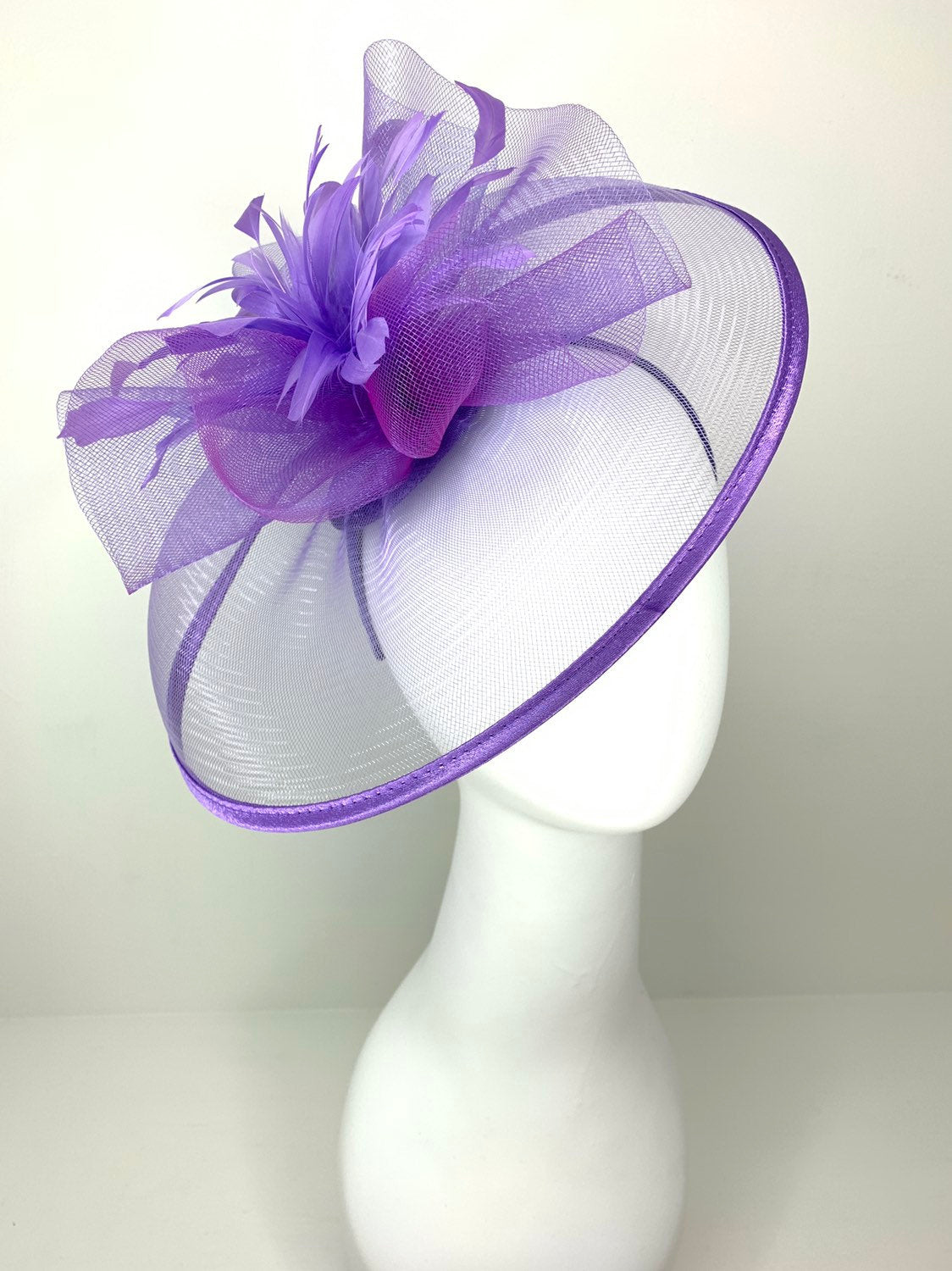 Lilac Fascinator, Derby Hat, Tea Party Hat, Church Hat, Kentucky Derby, British Hat, Wedding Hat Plum Purple, The Celeste, The Hat Hive