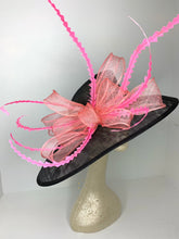 Load image into Gallery viewer, Black and pink kentucky Derby Hat