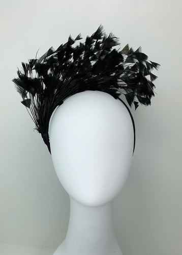 Black Fascinator, Black Kentucky Derby Hat, Womens Hat, Tea Party Hat, Church Hat, Derby Hat, Fancy Hat, Black Hat, Tea Party Hat,